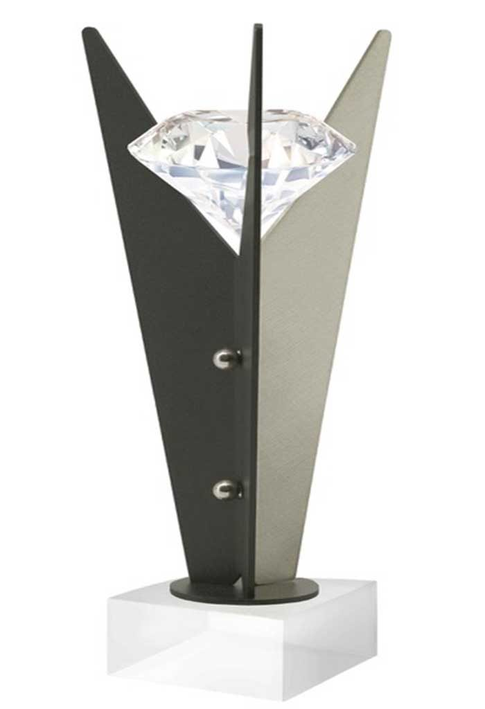 Premio con base in cristallo