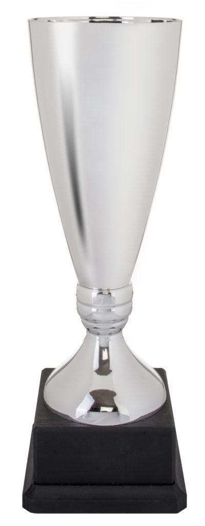 Coppa in metallo color argento