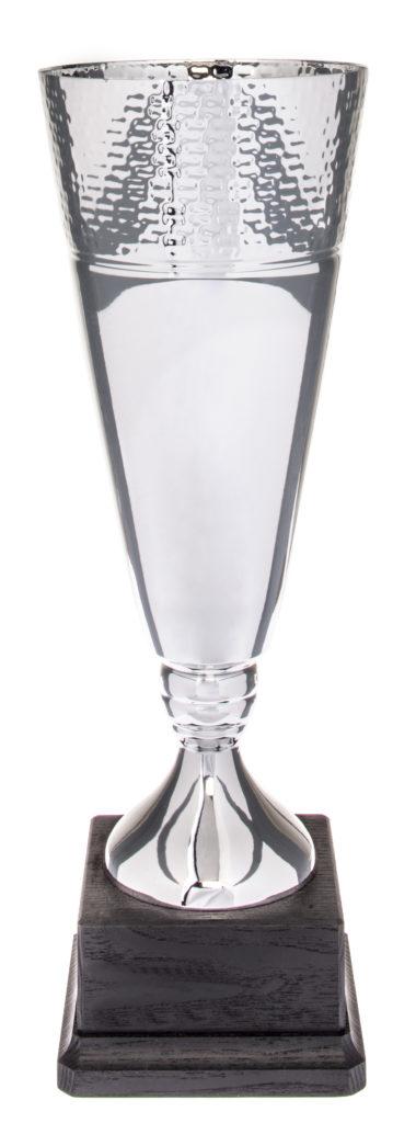 Coppa in metallo argentato