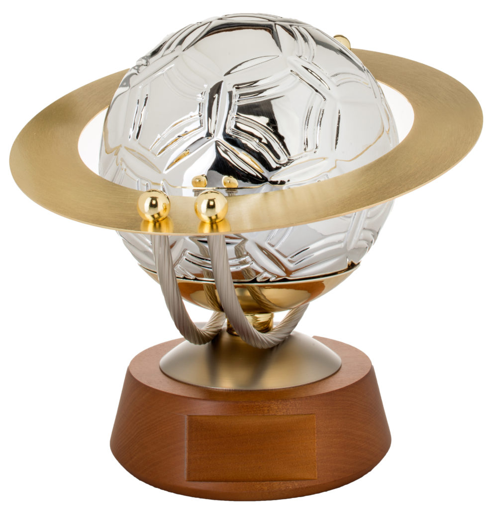 Trofeo conn pallone in fine ceramica